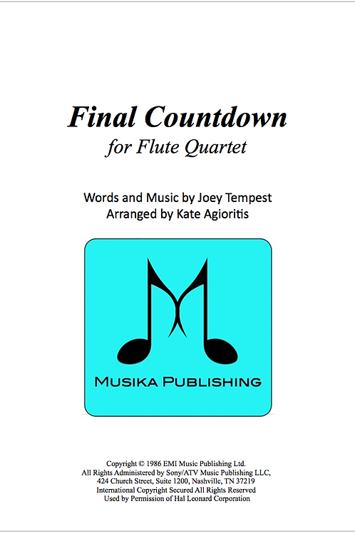 Final Countdown - Flute Quartet