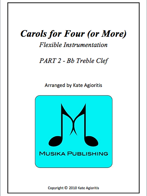 Carols for Four (or More) Part 2 Bb Treble Clef