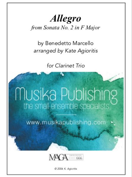 Allegro - for Clarinet Trio