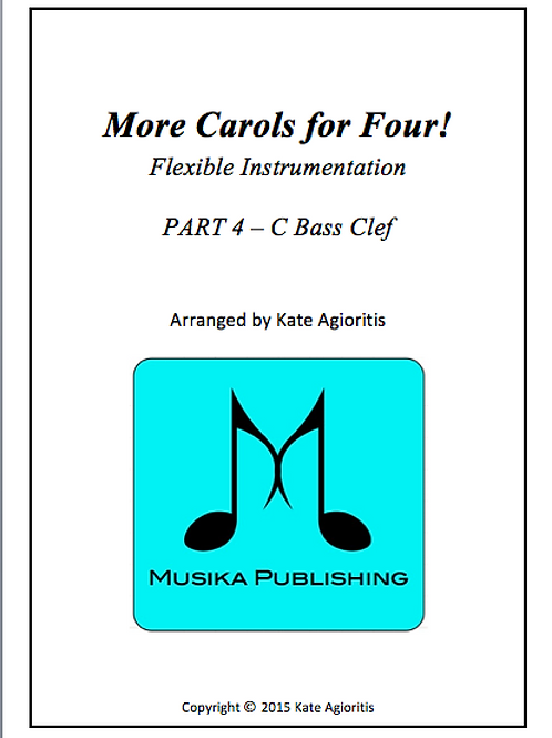 More Carols for Four Part 4 - C Bass Clef