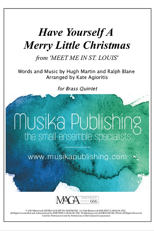 Have Yourself a Merry Little Christmas - Brass Quintet