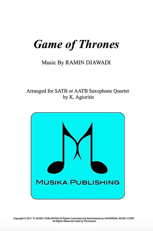 Game of Thrones - Saxophone Quartet