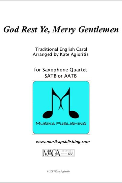 God Rest Ye Merry Gentlemen - Saxophone Quartet