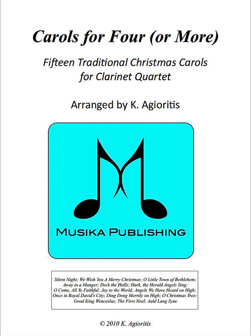Carols for Four (or more) - Clarinet Quartet
