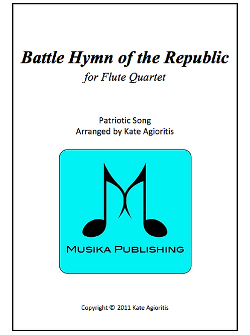 Battle Hymn of the Republic (Jazz) - Flute Quartet