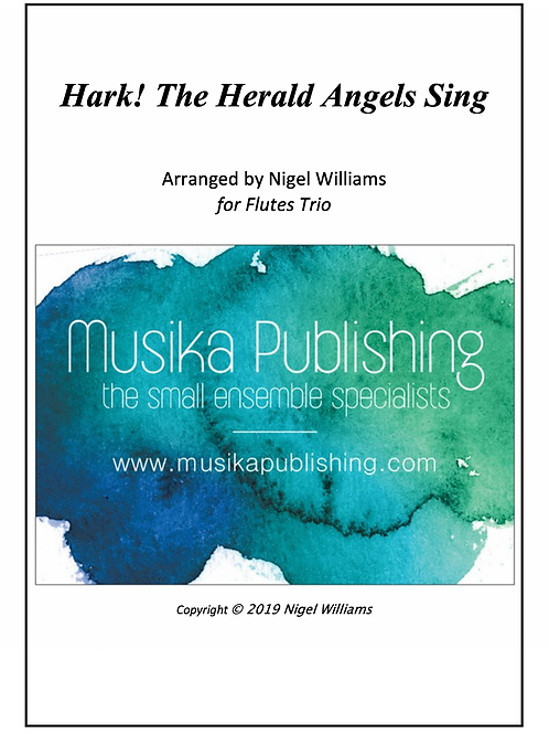 Hark! The Herald Angels Sing - Flute Trio