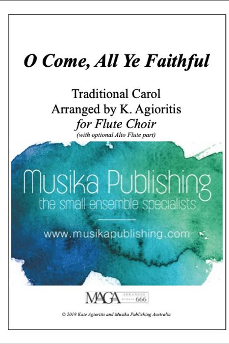 O Come, All Ye Faithful - Flute Choir/Quintet