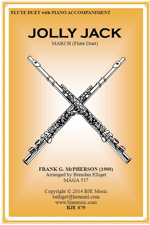 Jolly Jack March - Flute Duet with Piano