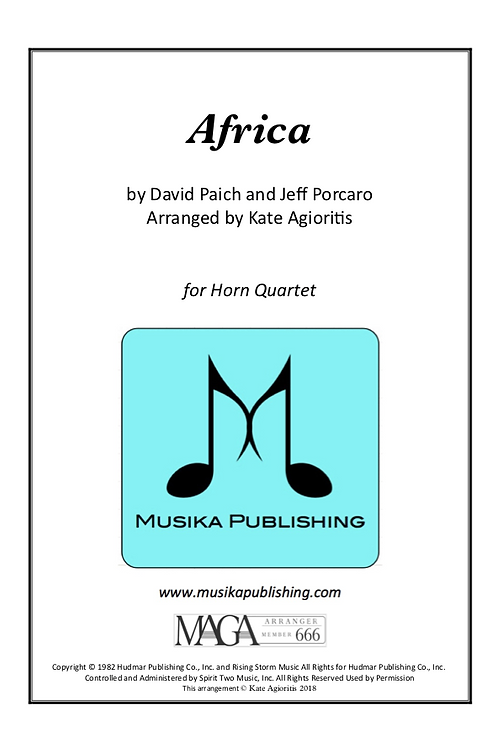 Africa - for Horn Quartet