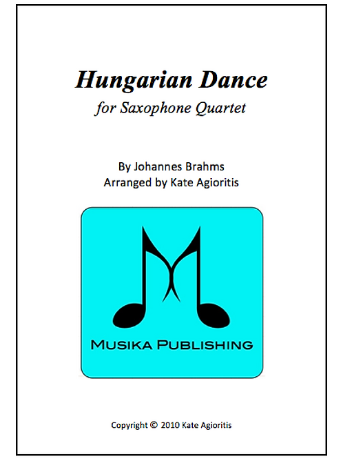 Hungarian Dance (Jazz) - Saxophone Quartet