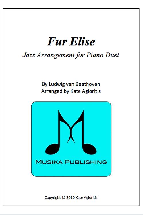 Fur Elise (Jazz) - Piano Duet