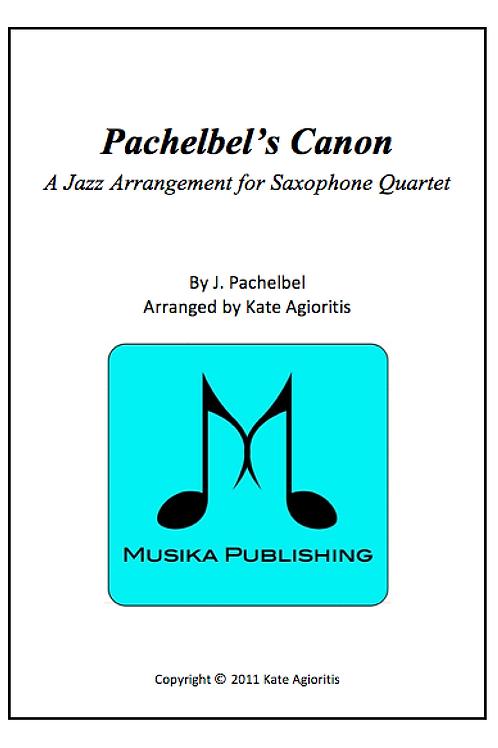 Pachelbel's Canon (Jazz) - Saxophone Quartet