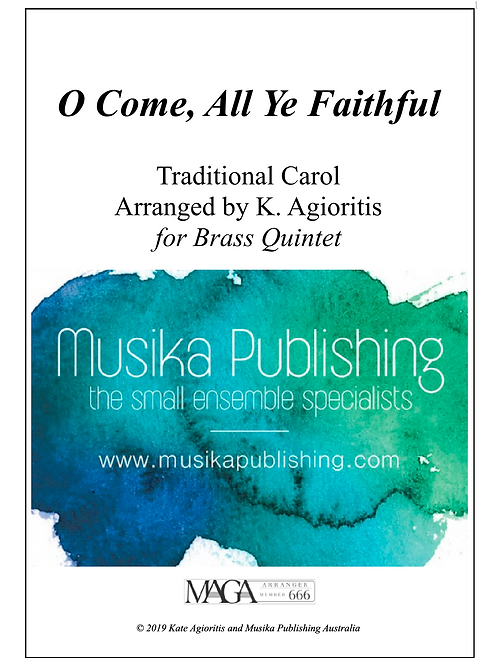 O Come, All Ye Faithful - Traditional Arrangement for Brass Quintet