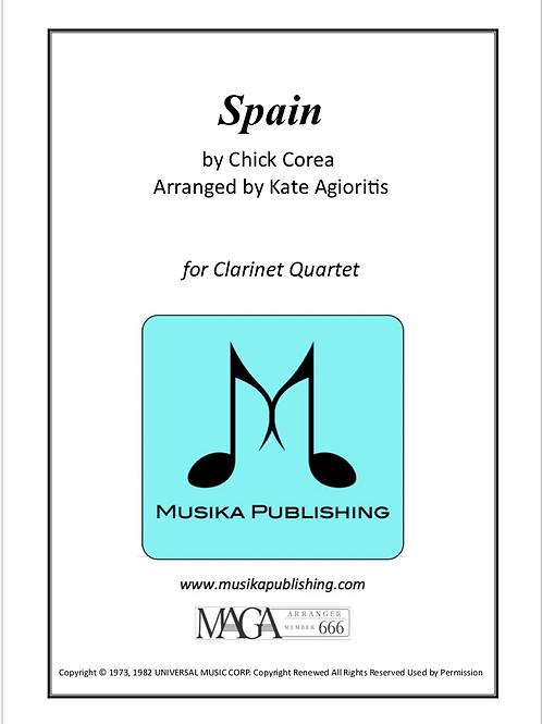 Spain - for Clarinet Quartet