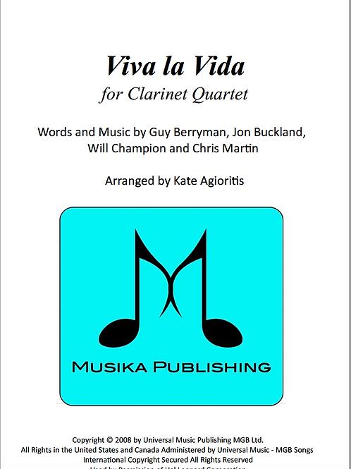 Viva La Vida (Coldplay) - Clarinet Quartet