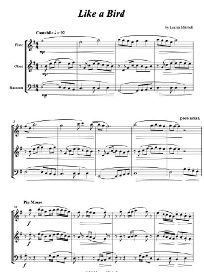 Like A Bird - Woodwind Trio