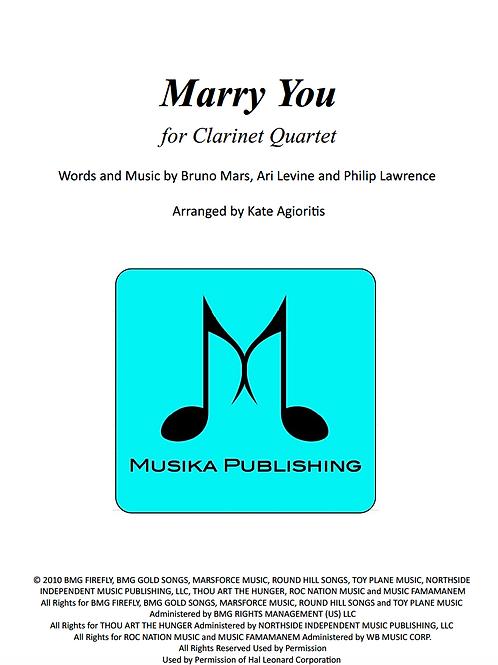 Marry You (Bruno Mars) - Clarinet Quartet