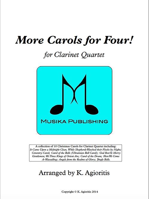More Carols for Four - Clarinet Quartet
