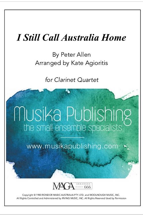 I Still Call Australia Home - Clarinet Quartet