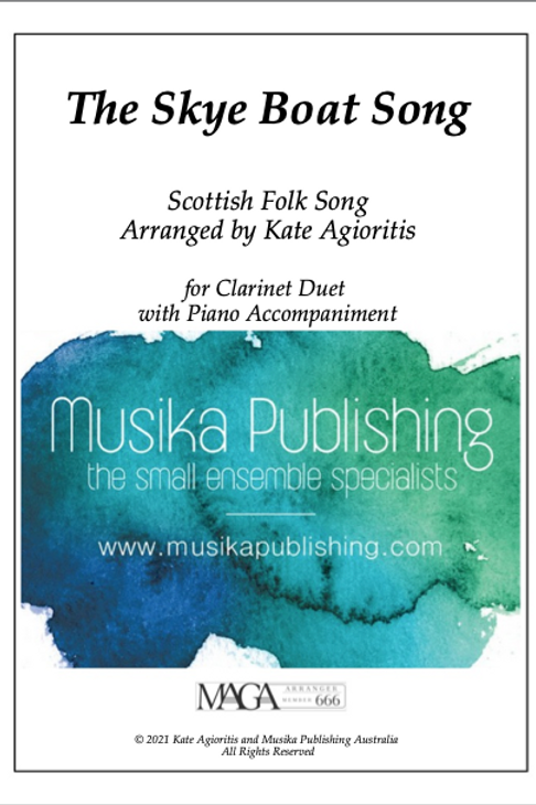 The Skye Boat Song - Clarinet Duet with Piano Accompaniment