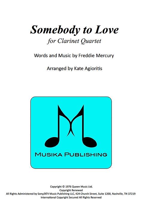 Somebody to Love (Queen) - Clarinet Quartet