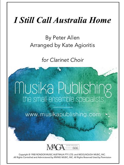 I Still Call Australia Home - Clarinet Choir