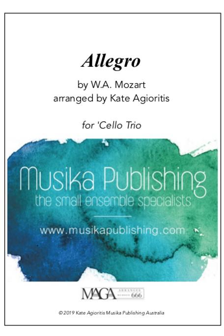 Allegro - Mozart - 'Cello Trio