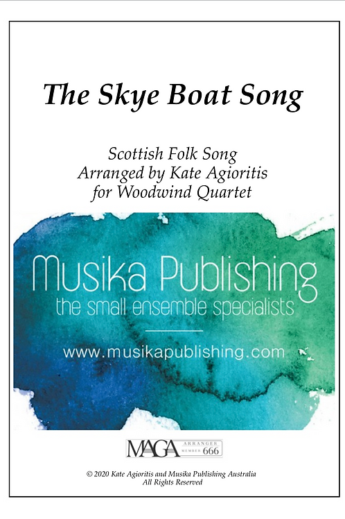 The Skye Boat Song - Woodwind Quartet