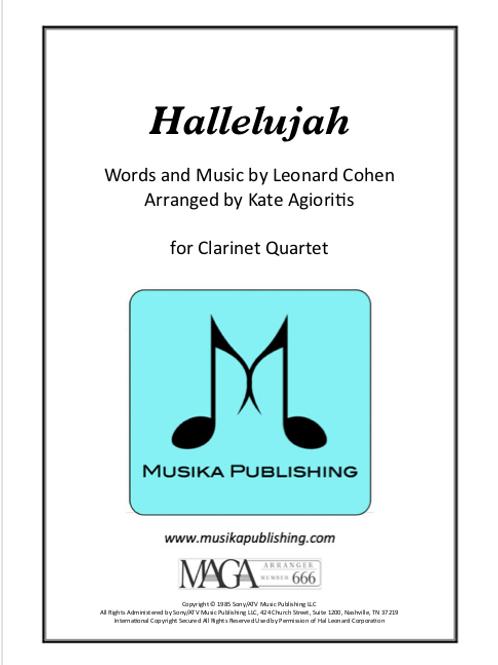 Hallelujah - Clarinet Quartet