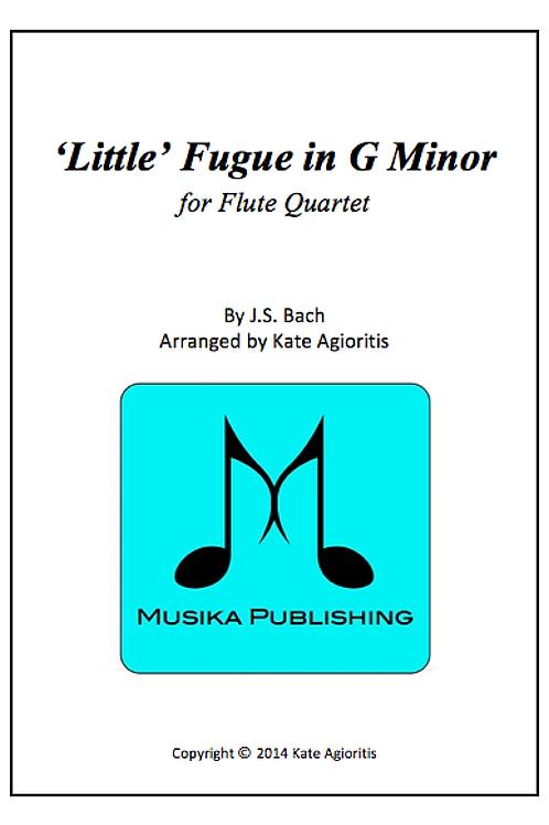 'Little' Fugue in G Minor - Flute Quartet