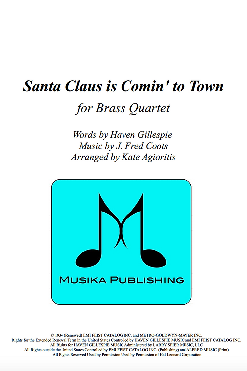 Santa Claus is Coming to Town - Brass Quartet