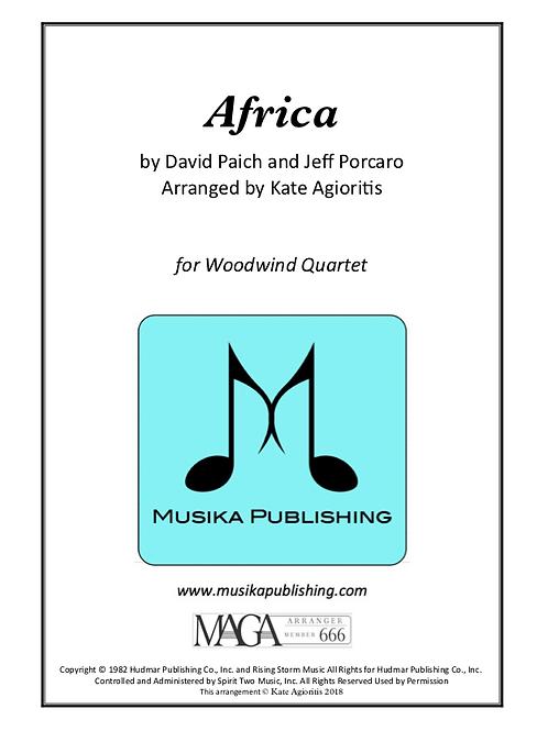 Africa - for Woodwind Quartet