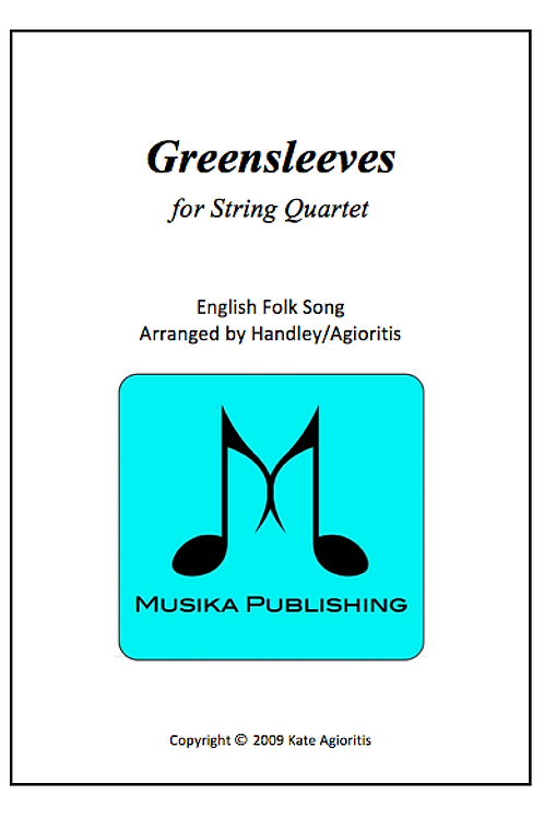 Greensleeves (What Child Is This) - String Quartet