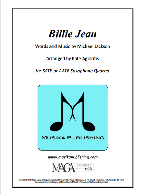 Billie Jean - Saxophone Quartet