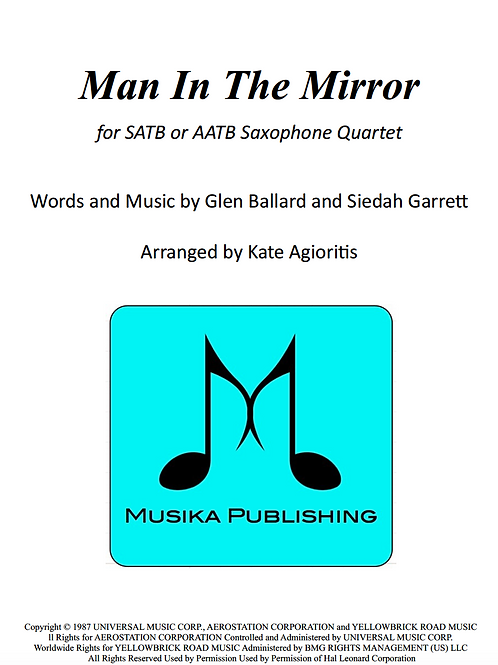 Man in the Mirror - Saxophone Quartet