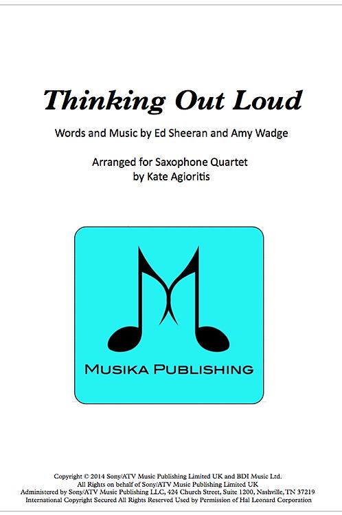 Thinking Out Loud - Saxophone Quartet
