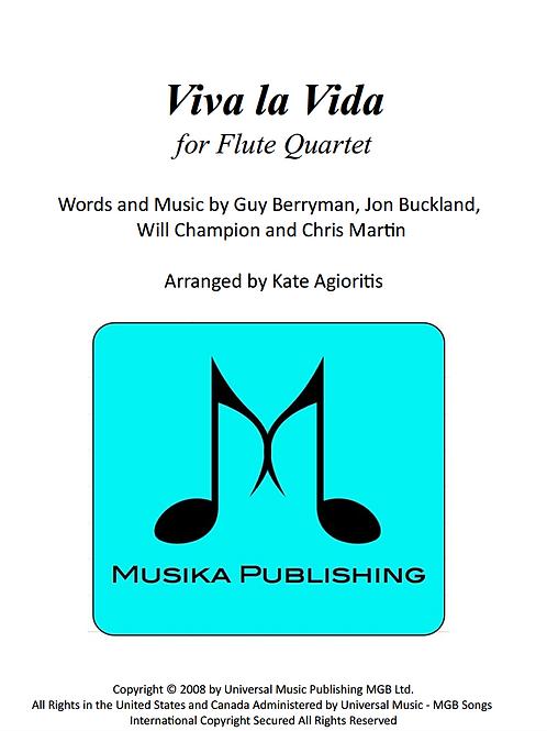 Viva La Vida (Coldplay) - Flute Quartet
