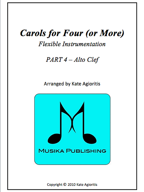 Carols for Four (or More) Part 4 Alto Clef