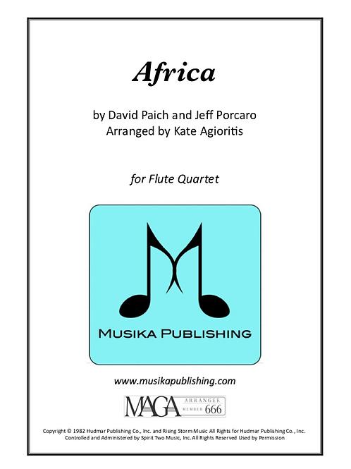 Africa - for Flute Quartet