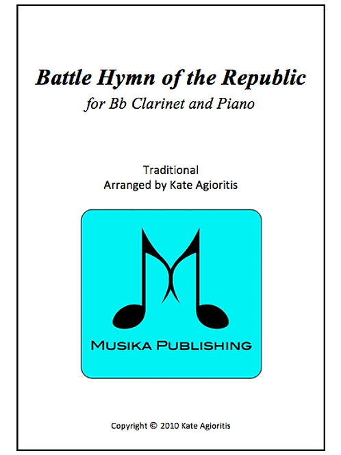 Battle Hymn of the Republic (Jazz) - Clarinet and Piano