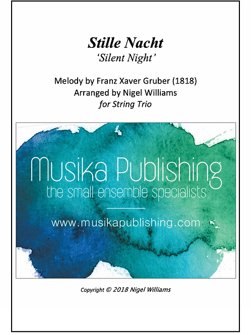 Stille Nacht (Silent Night) - String Trio