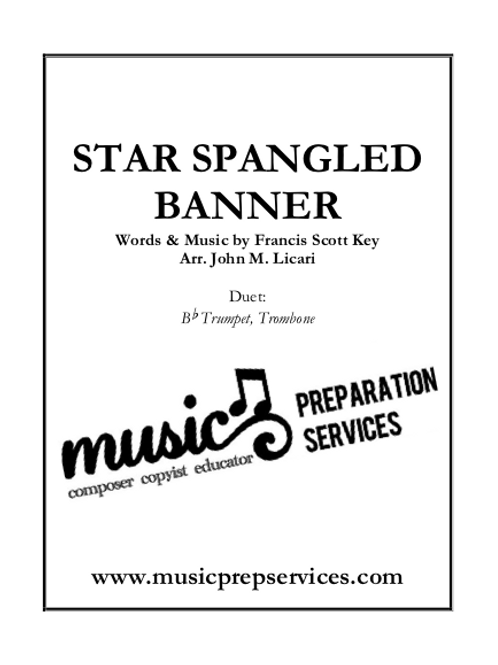 The Star-Spangled Banner for Brass Duet