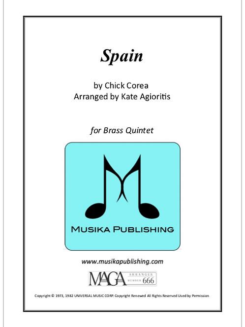 Spain - for Brass Quintet