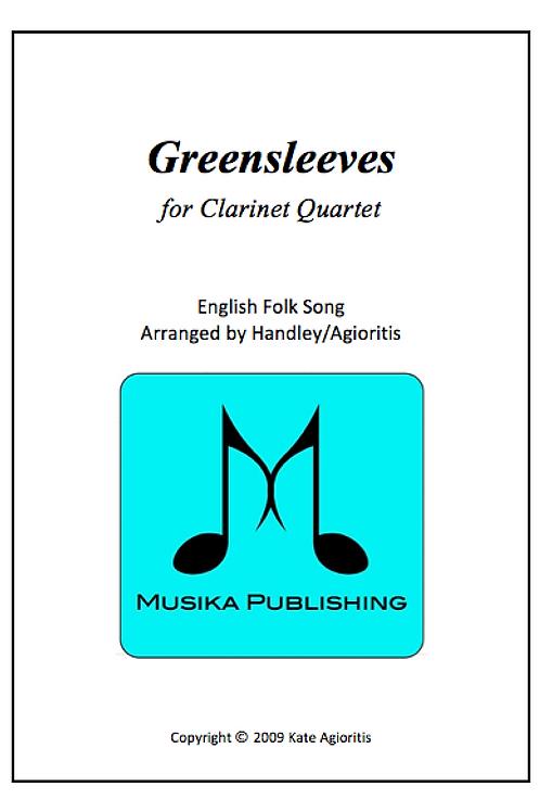 Greensleeves (What Child Is This) - Clarinet Quartet