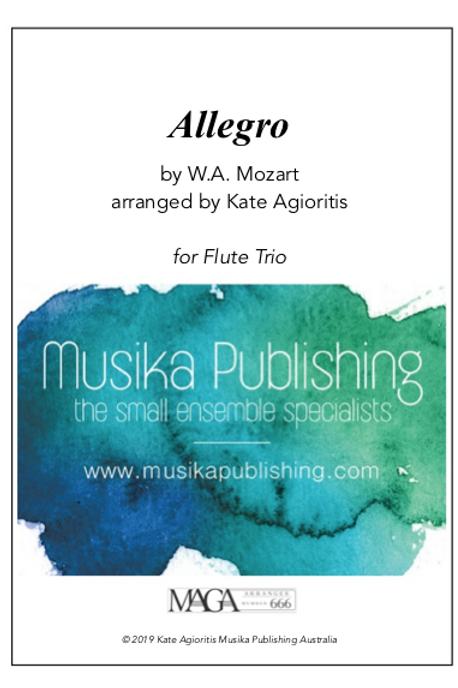 Allegro - Mozart - Flute Trio