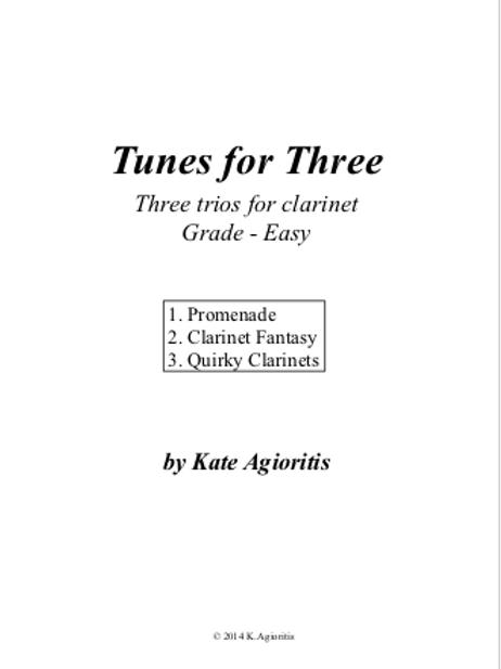 Tunes for Three - Three Easy Trios for Clarinet
