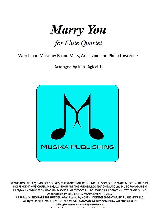 Marry You (Bruno Mars) - Flute Quartet