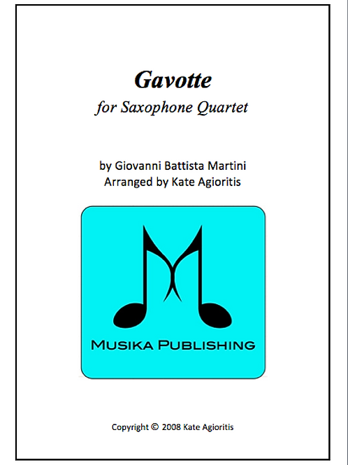 Gavotte - Saxophone Quartet