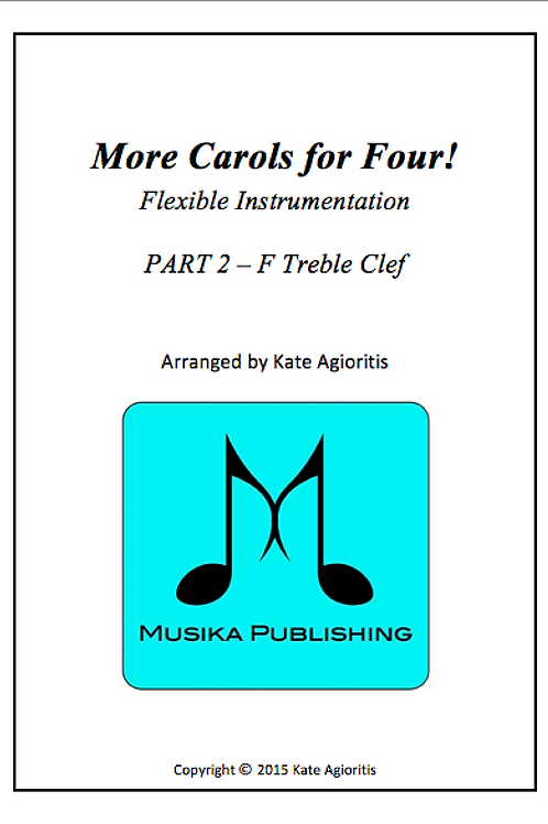 More Carols for Four Part 2 - F Treble Clef