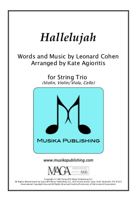 Hallelujah - String Trio